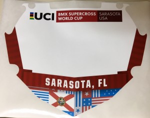 UCI Supercross Number Plate Skin
