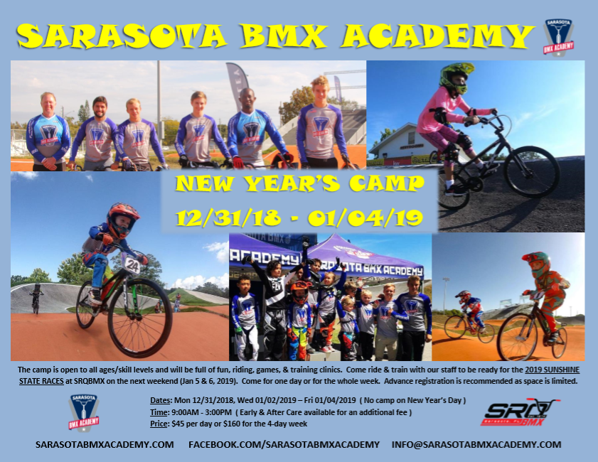 Sarasota BMX Academy New Year Camp