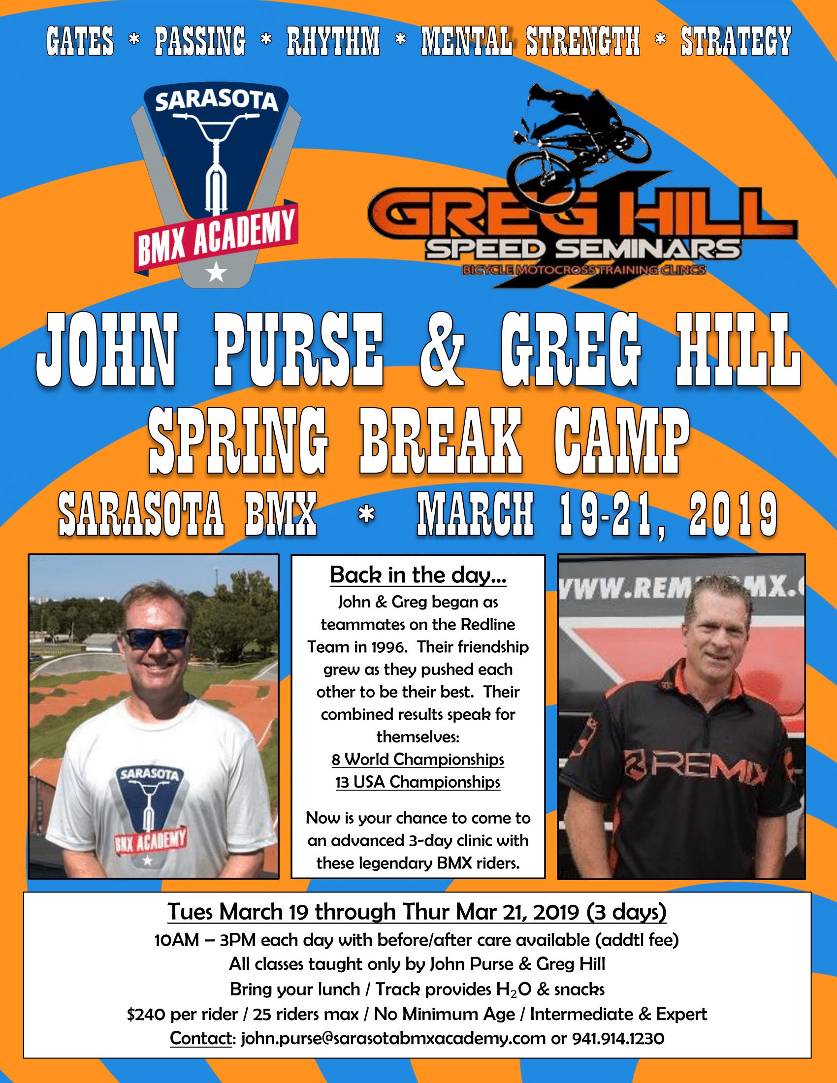 Spring Break Camp 3/19/19 - 3/21/19