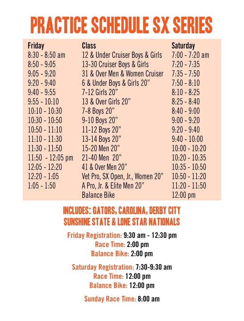 Sunshine State Schedule