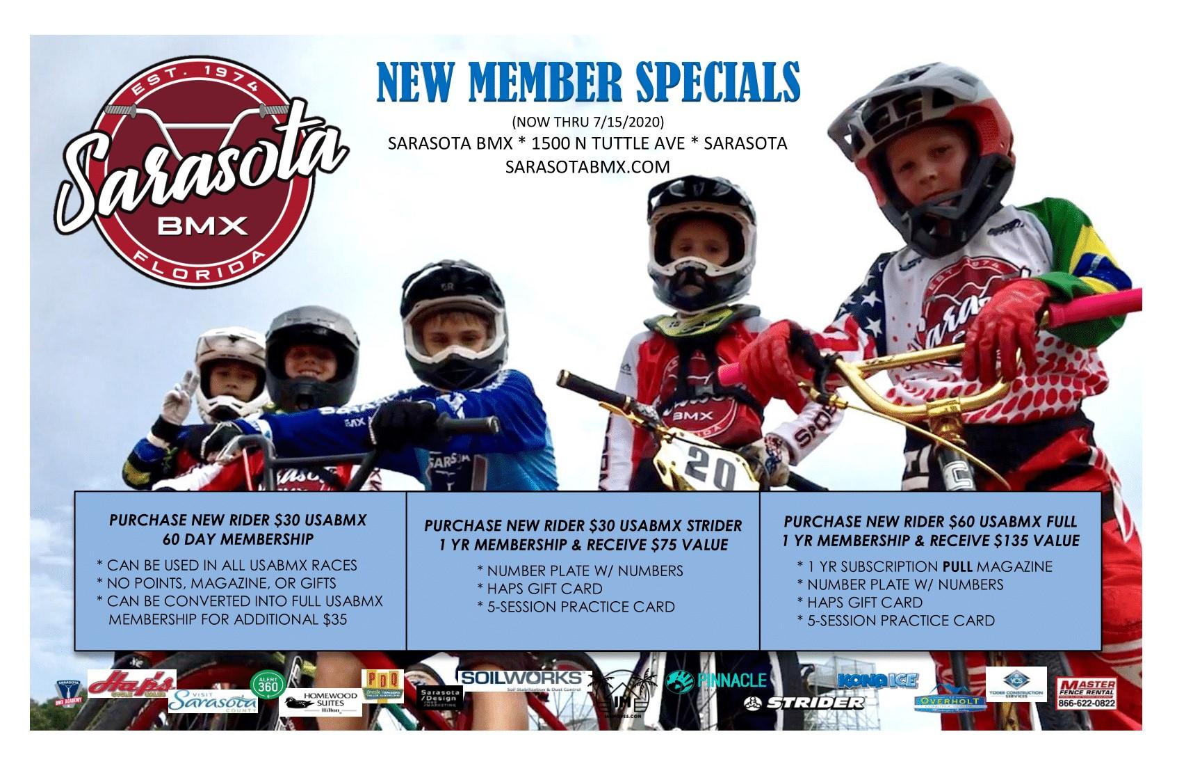 New Rider Specials!